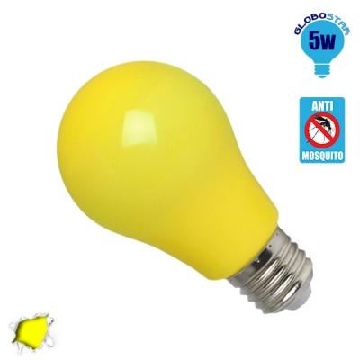 Γλόμπος LED A60 με βάση E27 5 Watt 230v Κίτρινο Εντομοαπωθητικός GloboStar 64000
