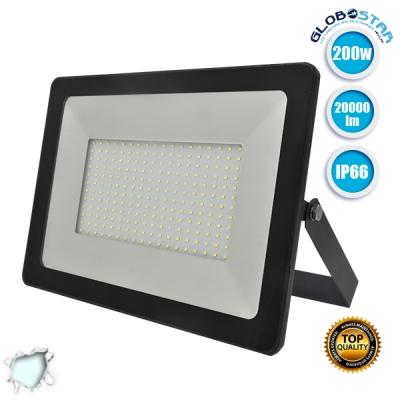 Προβολέας LED Slim Pad 200 Watt 230v Ψυχρό Λευκό 6000k IP66 GloboStar 11138
