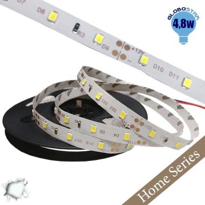 Home Series Ταινία LED 4.8 Watt 12 Volt Ψυχρό Λευκό IP20 GloboStar 33401